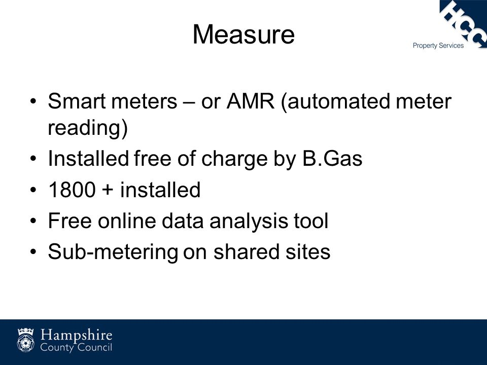 Measure Smart meters – or AMR (automated meter reading)