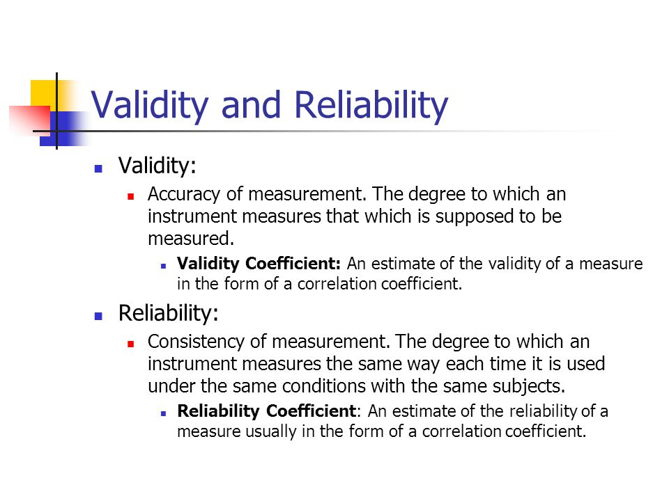 the importance of validity and reliability in the analysis of any form of data Doing so, especially within the context of marketing or social science research, begins with an understanding of the concepts of validity and reliability validity as a measure of a research instrument or tool, validity is the degree to which it actually measures what it is supposed to measure (wan, 2002.