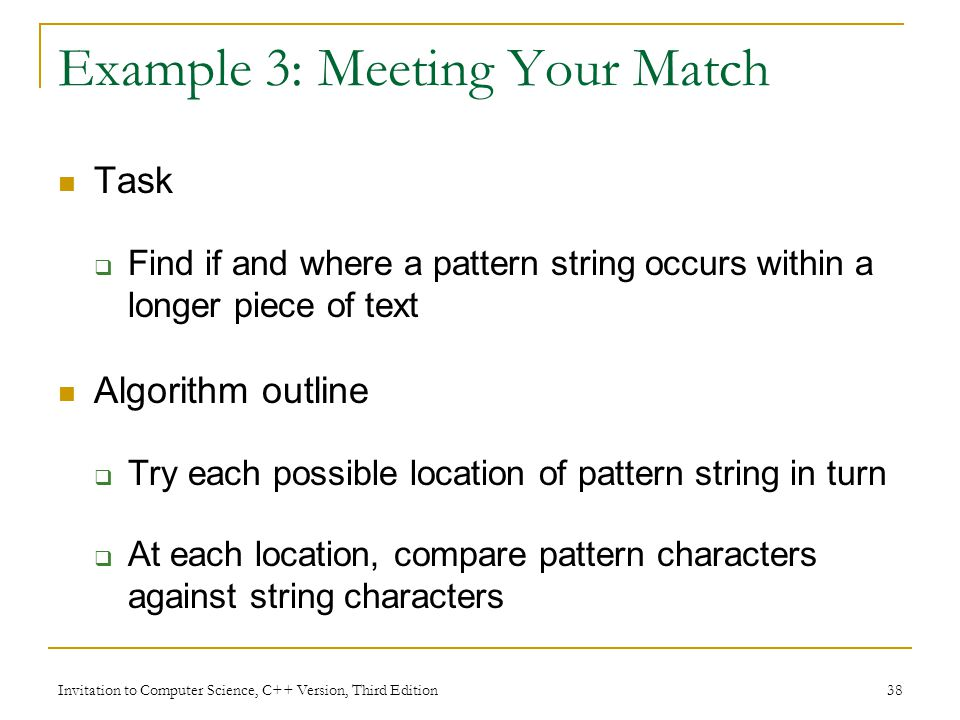 Example 3: Meeting Your Match