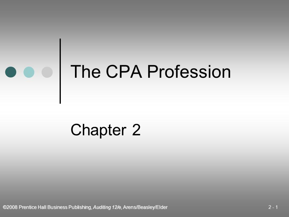 The CPA Profession Chapter 2