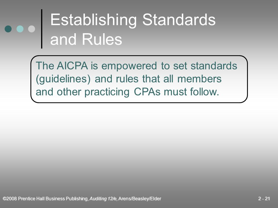Establishing Standards and Rules