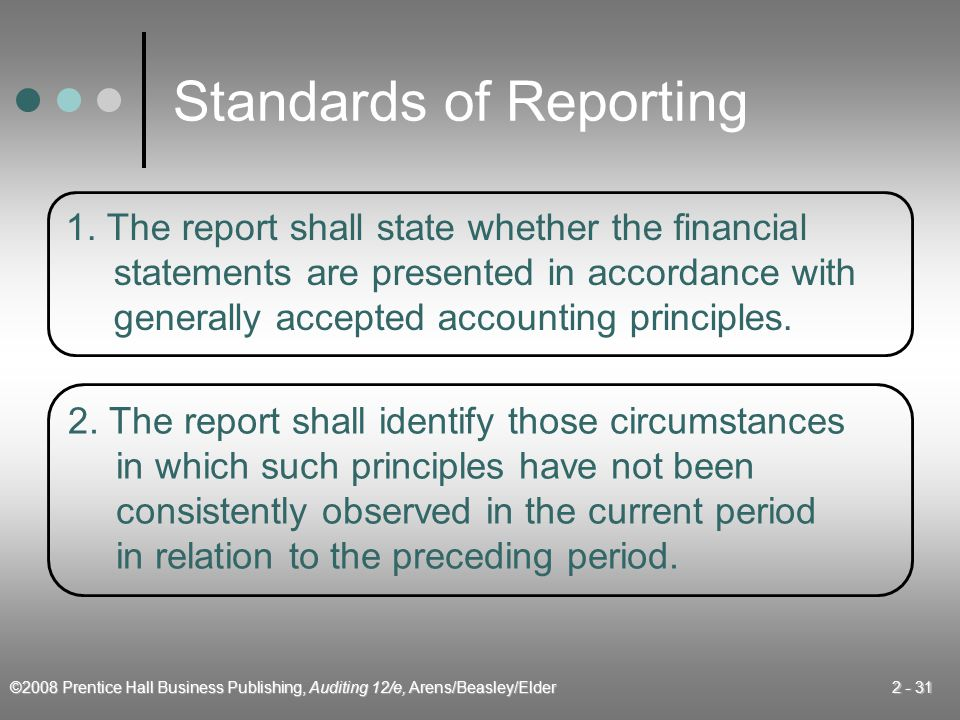 Standards of Reporting