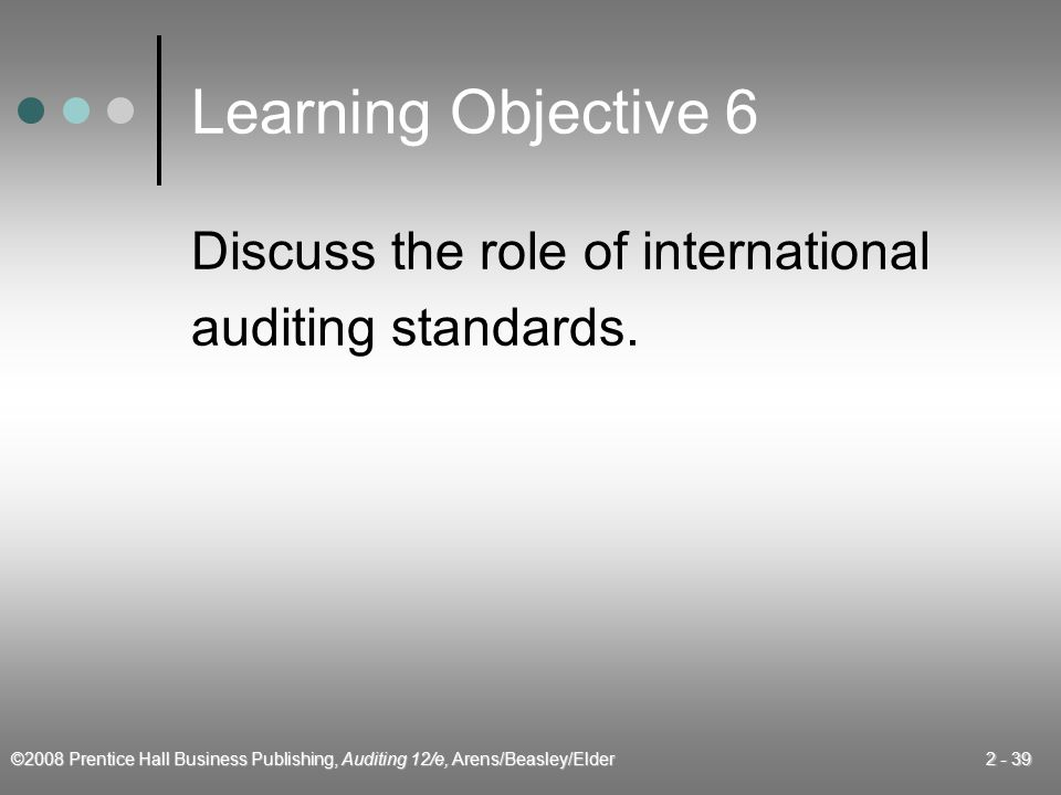 Learning Objective 6 Discuss the role of international