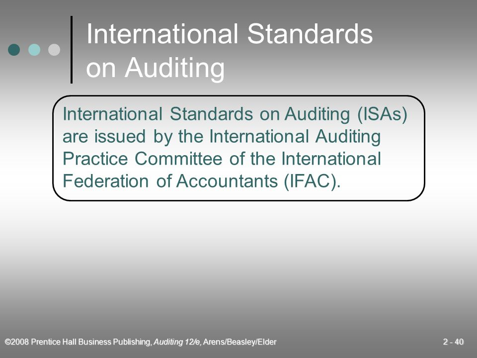 International Standards on Auditing