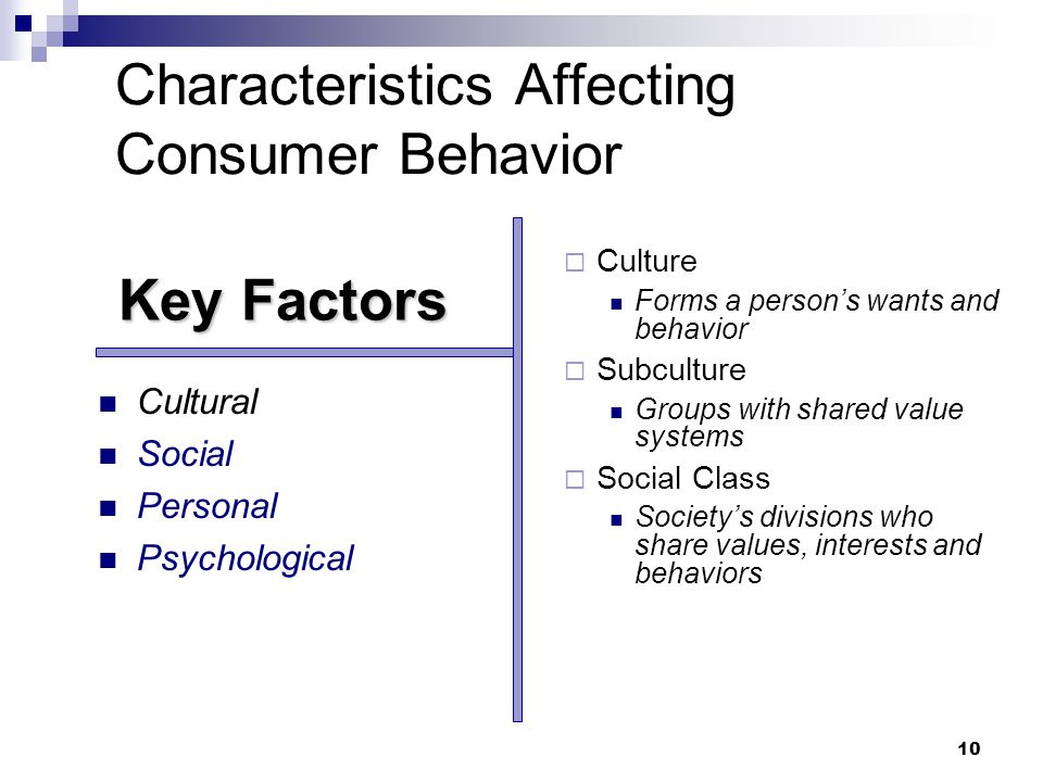 characteristics that affect consumer behavior and Consumer behavior issues including perception, decision making, information search, attitudes, beliefs, categorization, consumer research methods, learning, motivation, memory, culture, subculture, and the diffusion of innovation.