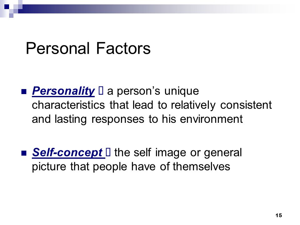 factors that form a person's individual Personality and individual differences is primarily devoted impact factor: 2005 ℹ impact and narcissism as predictors of the topics people write about in.
