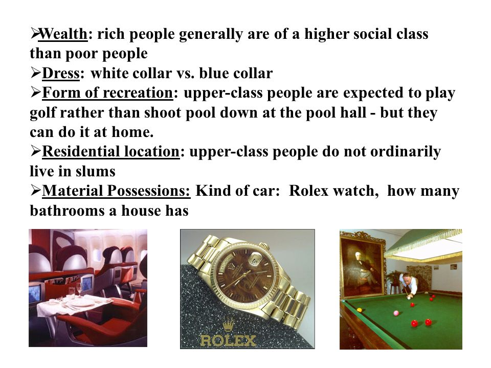 rich people essay