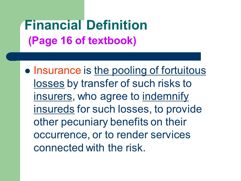 Financial Definition (Page 16 Of Textbook)