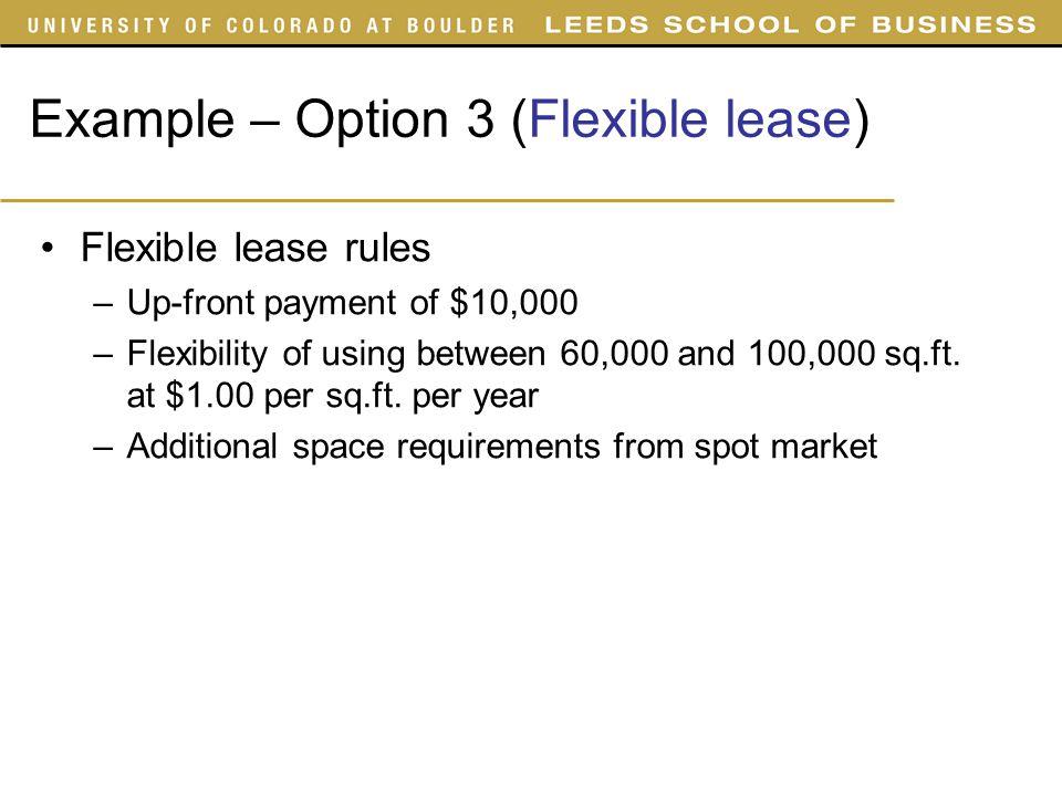 Flex option trade