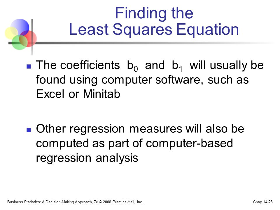 Finding the Least Squares Equation