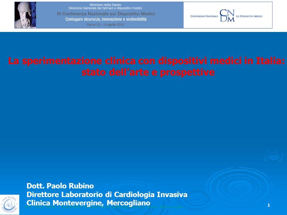 La sperimentazione clinica con dispositivi medici in Italia: