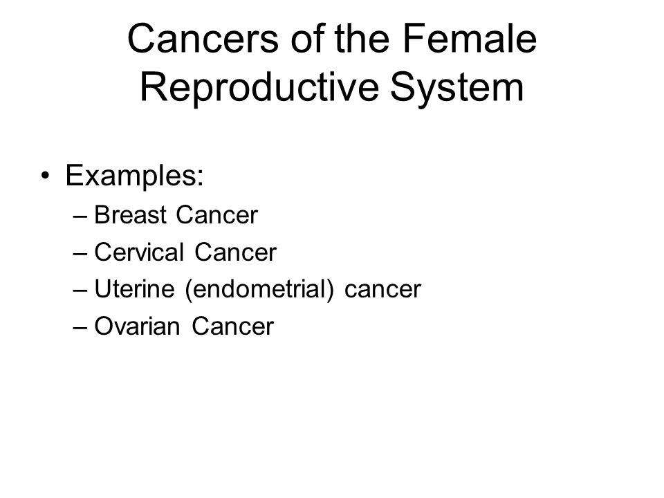 ovarian cancer in the reproductive system How to detect ovarian cancer ovarian cancer is a type of cancer which begins in the ovaries of a woman the female reproductive system contains two.