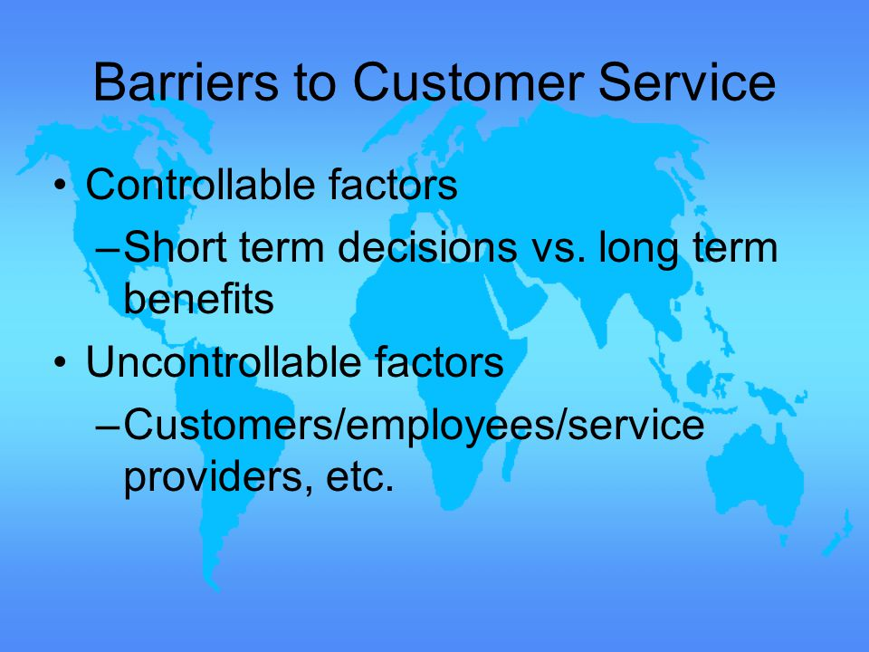controllable vs uncontrollable factors in business The supply chain structure is what allows costco and walmart to execute its business strategy  (controllable) factors  all controllable and uncontrollable.