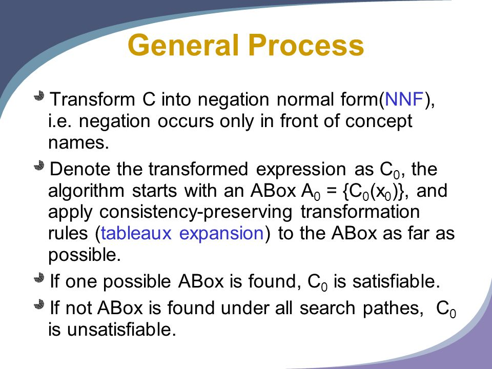 Basics of Reasoning in Description Logics - ppt download