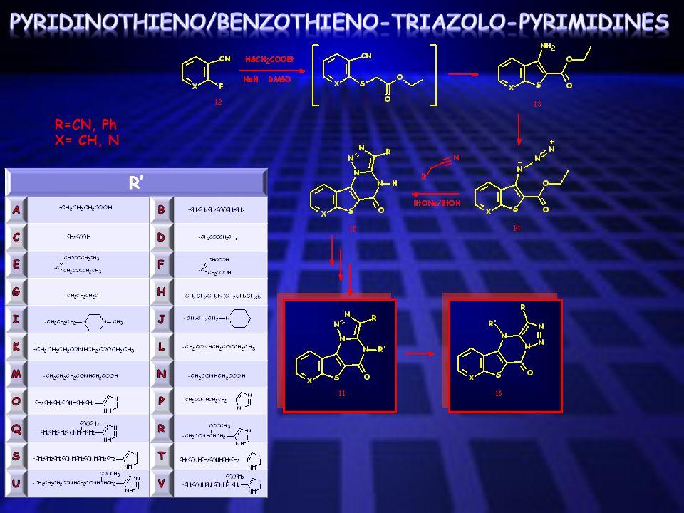 pyridinothieno/benzothieno-triazolO-pyrimidines