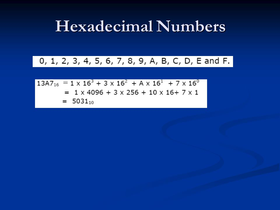 Hexadecimal Numbers