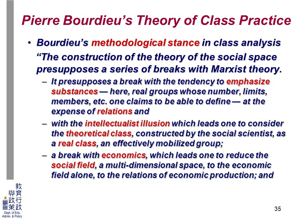 bourdieus theory of cultural change I love theory, but if we can't talk about it in a way that makes sense to our daily  realities, it loses relevance pierre bourdieu was a french.