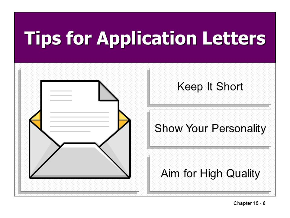 tips for writing application letter