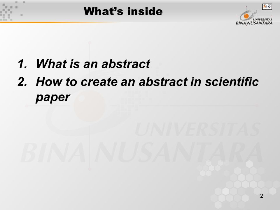 What is an abstract in a n essay