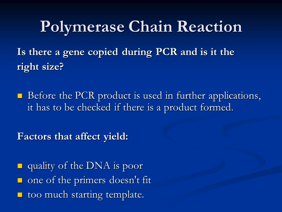 Techniques used in molecular biology ppt video online for How much template dna for pcr
