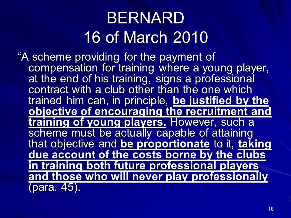 BERNARD 16 of March 2010