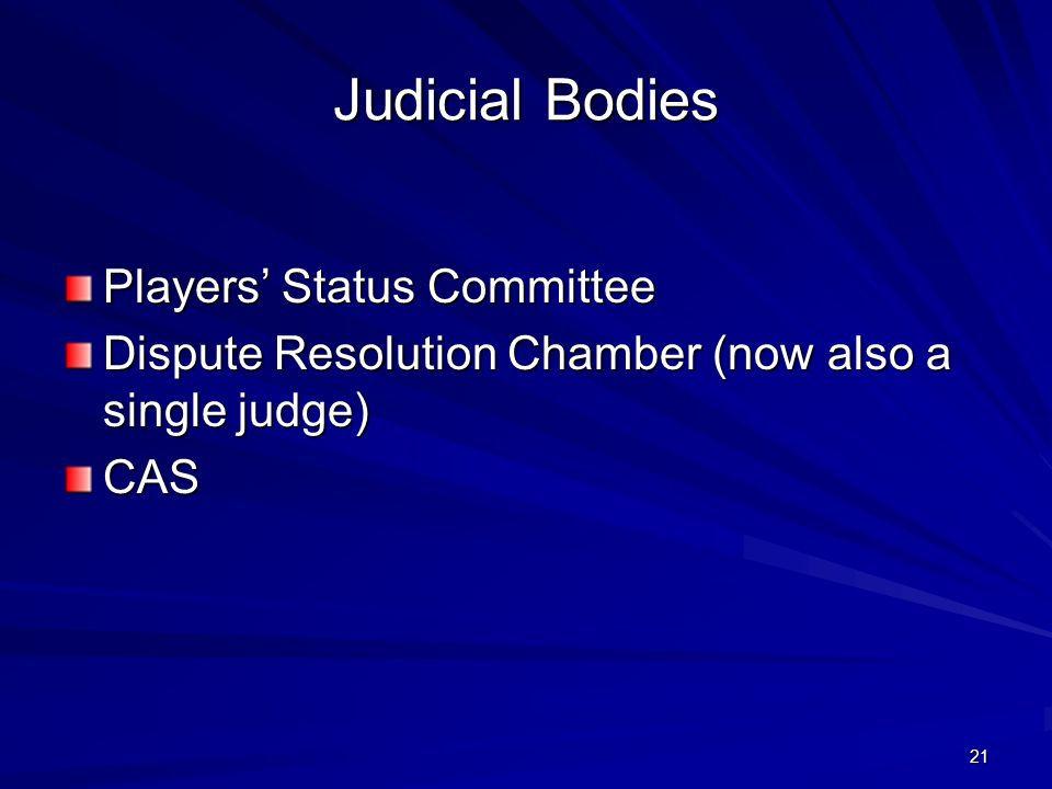 Judicial Bodies Players' Status Committee