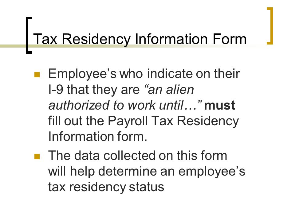 Proper Tax Treatment Of Foreign Hires - Ppt Video Online Download
