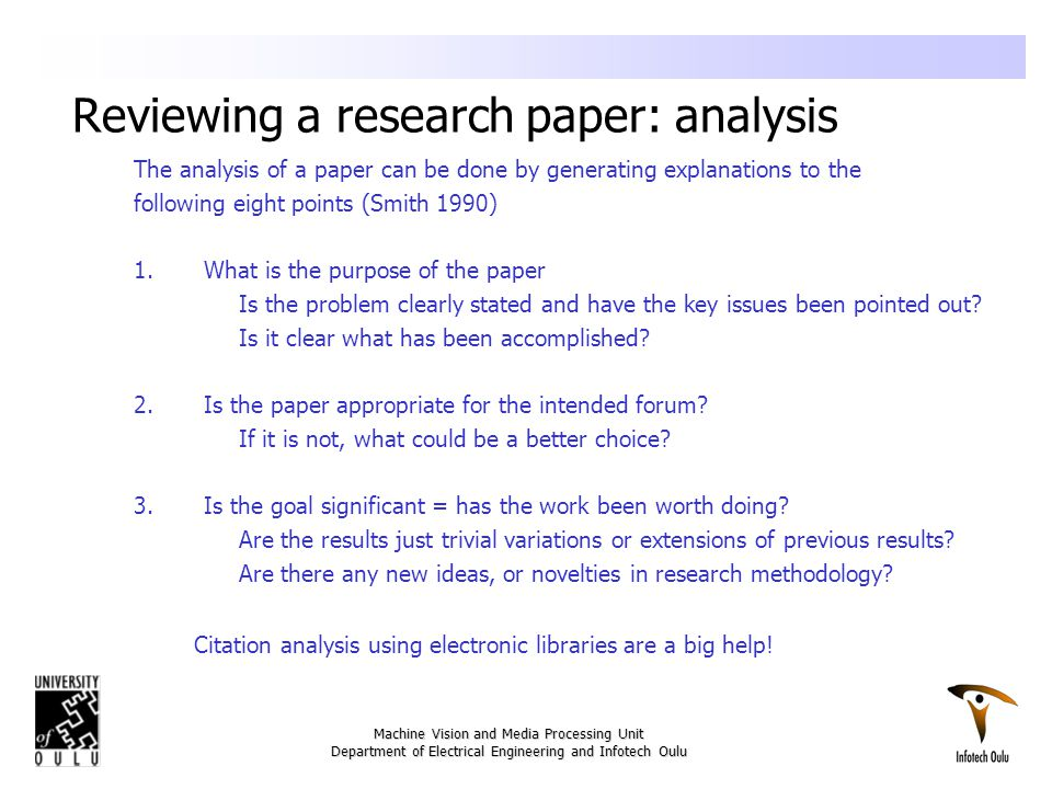 review of research papers