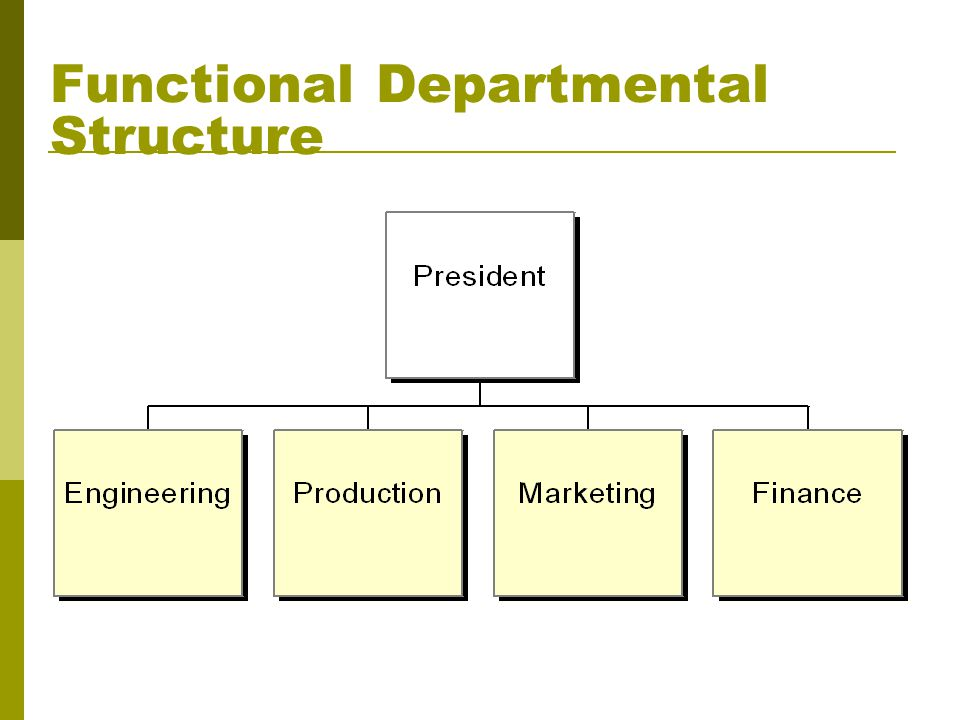 Functional Departmental Structure