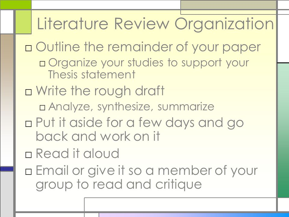 Literature review on organizational behavior