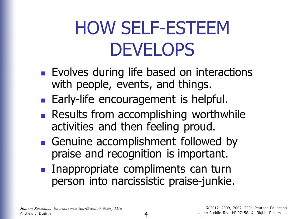 "self esteem in human relations 1 chapter 2 quiz name_____ ""self-concept and self-esteem in human relations"" true or false: 1 self-esteem is the way you conceive of or see yourself true false 2 self-image is the self that you assume others see when they look at you."