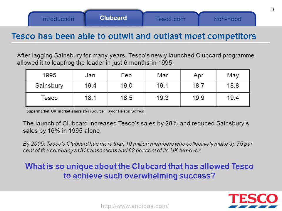 segmentation in tesco Segmentation, sales forecasting, activity-based costing, lifetime value estimation   the results of this analysis were used to segment tesco's customers and to.