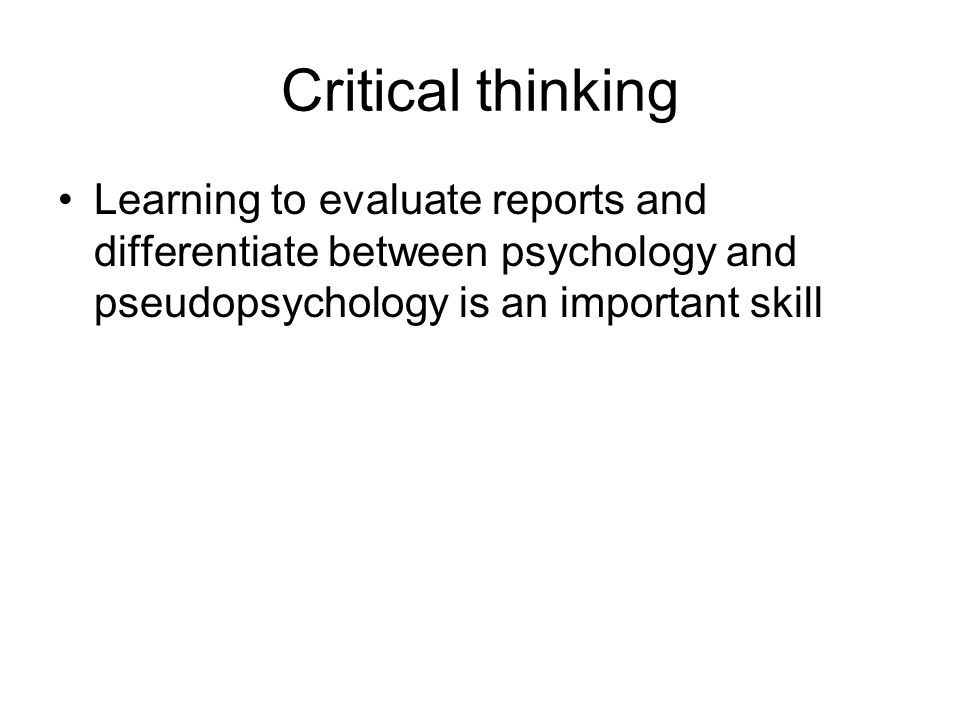 On Critical Thinking