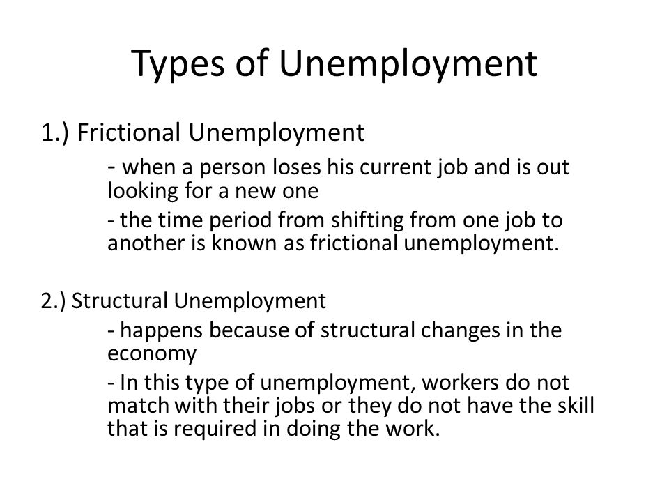 "describe the three types of unemployment Compare and contrast the three types of unemployment discuss how these three types of unemployment demystify a common myth that ""unemployment would not exist if the economy were operating efficiently."
