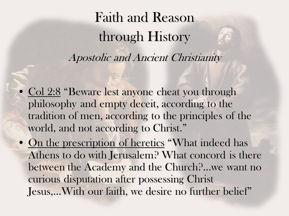the distinction between faith and reason in christian ethics The certitude of christian faith  the distinction between eloquence and truth  all-things-considered conflict between faith and reason.