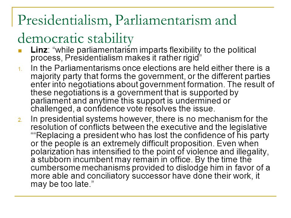 is parliamentarism conducive to better political Government coalitions and legislative success under presidentialism and parliamentarism - download as pdf file (pdf), text file say because they expect to do much better in the next election if they remain.