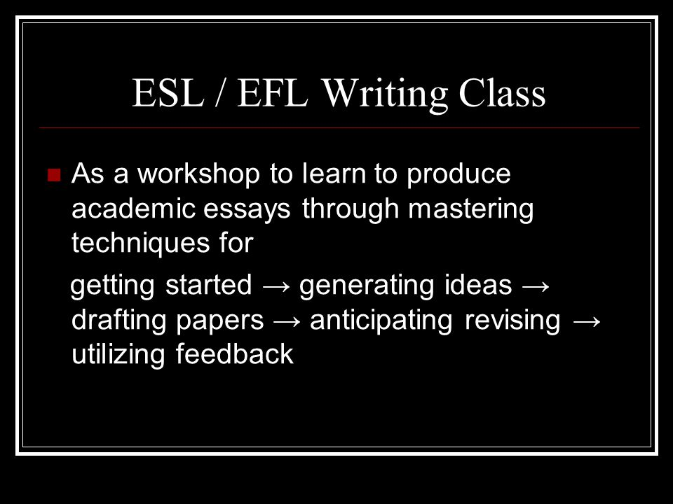 Learn to write academic essays