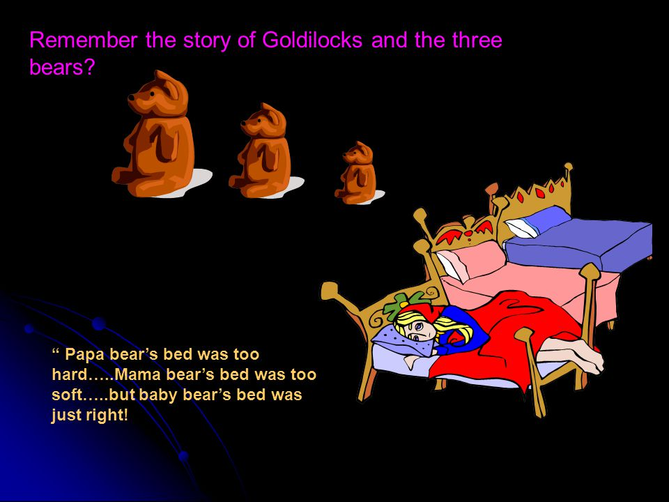 Remember the story of Goldilocks and the three bears