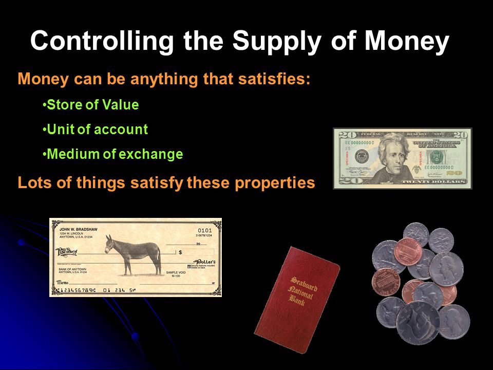 Controlling the Supply of Money
