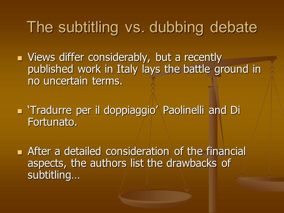 The subtitling vs. dubbing debate