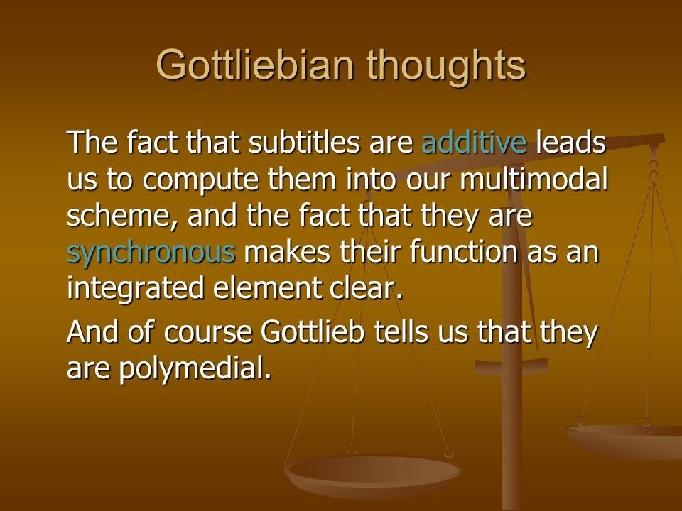 Gottliebian thoughts