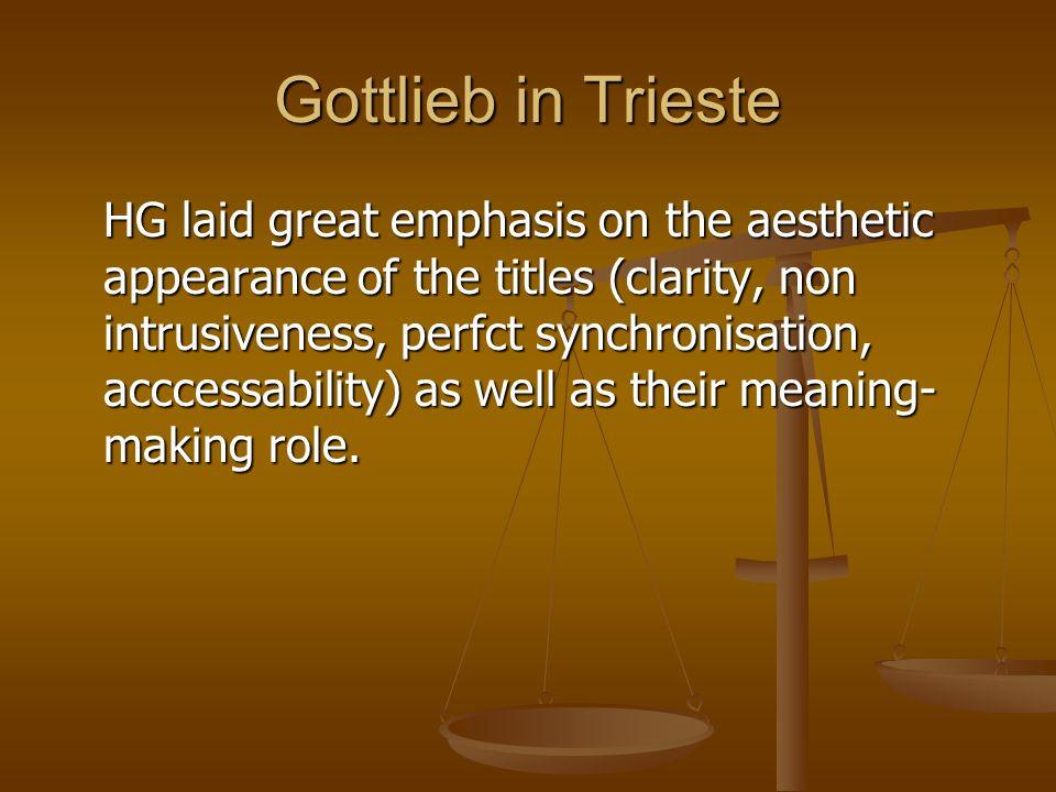 Gottlieb in Trieste