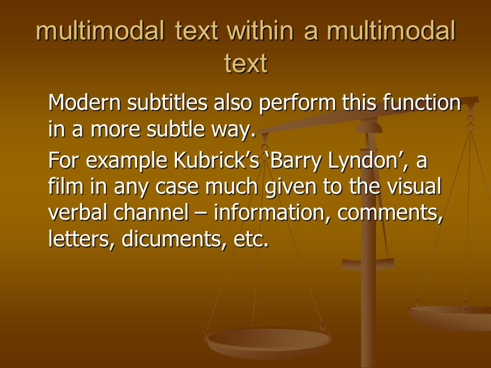 multimodal text within a multimodal text