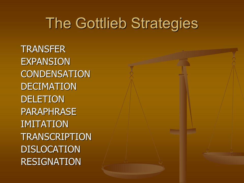 The Gottlieb Strategies