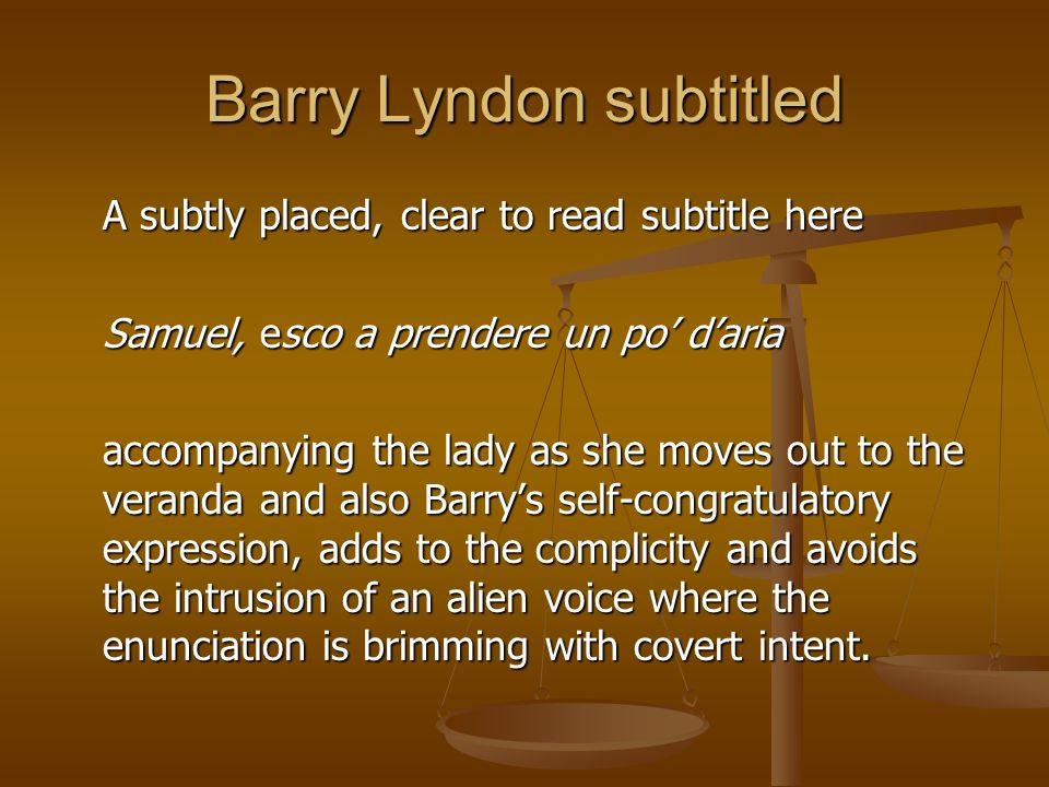 Barry Lyndon subtitled