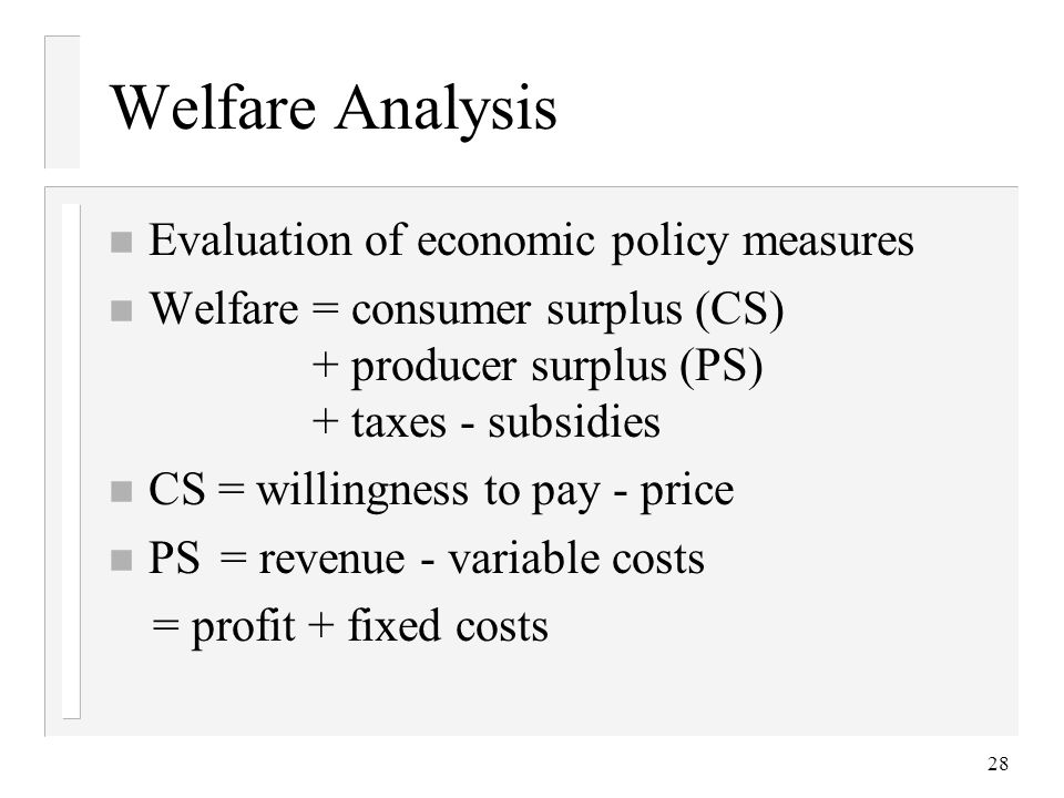 an analysis of the welfare economics of public policy Economic analysis, moral philosophy and public policy - by daniel m hausman march 2006.