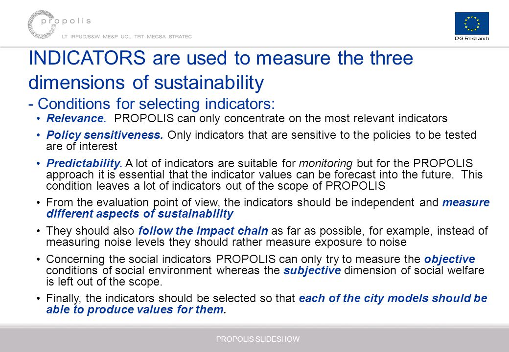 assess different indicators used to measure The boston indicators project is a valuable example of a different approach to health indicators using a comprehensive quality of life approach it is unique in the offering of a broad range of social indicators not available in other comprehensive indicator sets.
