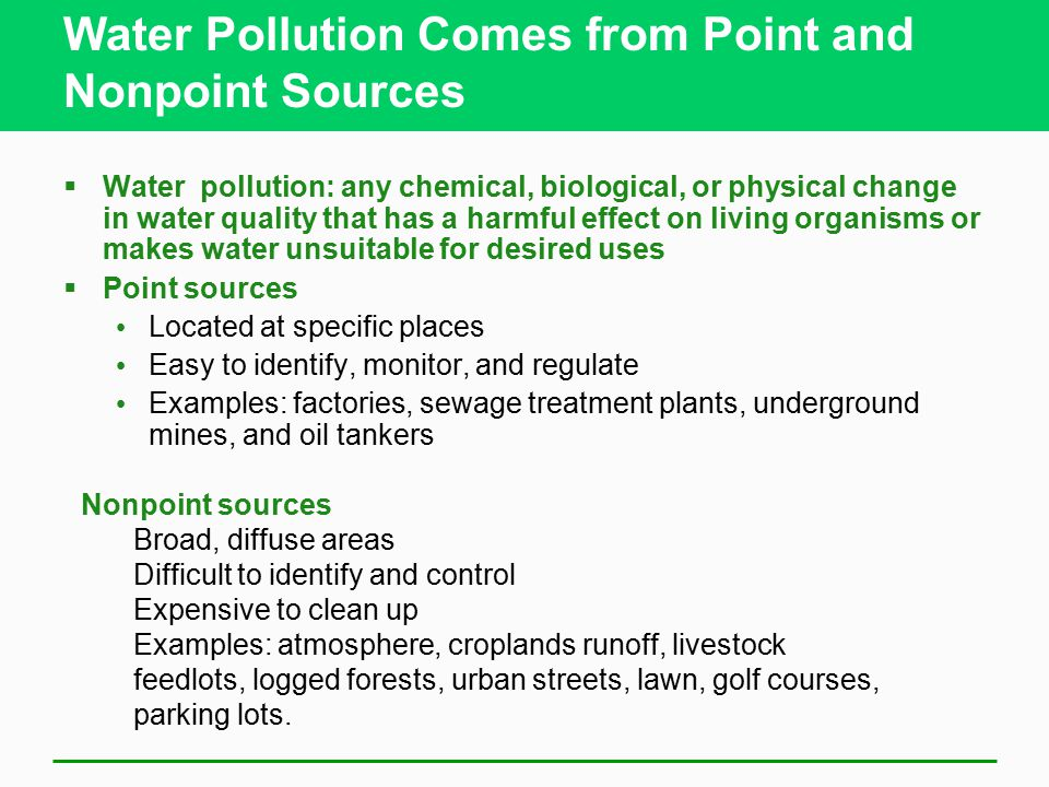 pollution control legislation for point sources Legislation on the prevention of significant deteoriation of air quality, it is not  cost-effective to encircle point sources with large numbers of equally spaced.