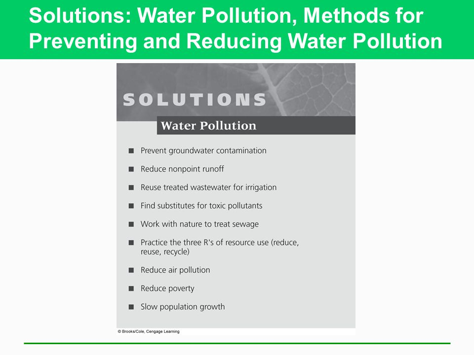 mitigation strategies and solution water pollution Solutions for industrial pollution  have effectively implemented systems that treat waste water  a long-term solution that could reduce pollution.