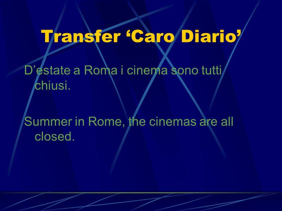 Transfer 'Caro Diario'